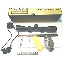 BSA 550 4x32 WR Alcance Del Rifle De Aire preparado para montar - con Mil-dot, 4 veces aumento, 32mm lentes y dos soporte ya equipado. From Granja Casa de campo Marcas