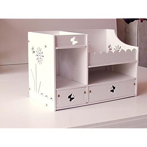 YRZT Scatola di immagazzinaggio di gioielli cosmetici cassetto impermeabile Desktop creativo , c