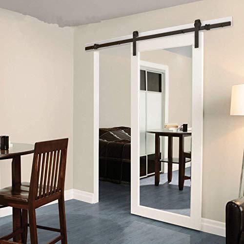 Zimmertür-Scheune aus Holz Schiebetür Schiebefenster Beschläge für Schiebetüren Innen Komplettset für Schiebetüren Innentüren Trennwände und Schränke Wand