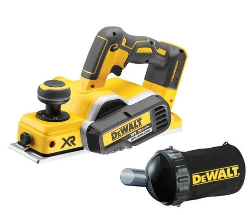 Dewalt DCP580N 18V XR Brushless Planer (Body Only) with DWV9390 Dust Bag