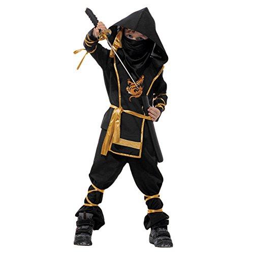 West See Kinder Jungen Halloween Stealth-Ninja-Kampfkünste Kinderkostüm mit Hose, Shirt, Gürtel und Maske (Alter 5-7, (Für Kostüme Jungen Ninja Halloween)