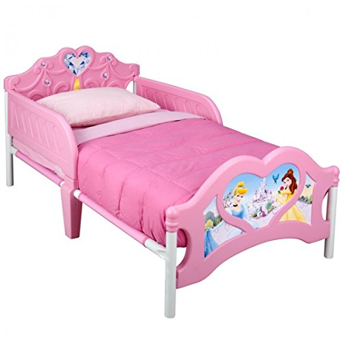 Disney 3D Kinderbett Lightning McQueen Princess Mickey Minnie Bett Möbel Kinderzimmer 140x70 Schlafen NEU, Motiv:Princess