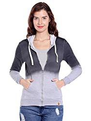 Campus Sutra Womens Plain Sweatshirt(AZW17_ZHSPR_W_PLN_CHGR_AZ_L)