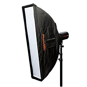 PhotoSEL SBSR3X14 35 x 140 cm Strip Softbox - S-Type Mount, for PhotoSEL / Bowens Studio Flash