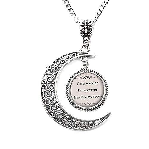 Kostüm Party Lyrics - Charm Halskette mit Anhänger Halbmond Liedtext Demi Lovato Songtext Zitat inspiriert Musik Anhänger - Silber motivierendes Geschenk für Sie