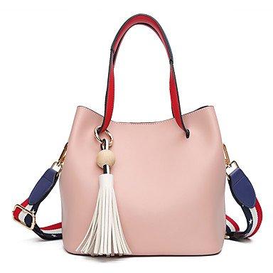 SUNNY KEY-Borsa a tracolla @ Donna Borsa a tracolla PU (Poliuretano) Per tutte le stagioni Secchiello Cerniera Verde Nero Rosa , blushing pink blushing pink