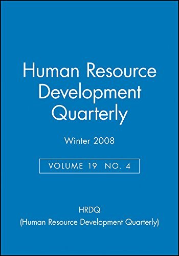 Human Resource Development Quarterly Winter 2008: v. 19, No. 4 (J-B HRDQ Single Issue Human Resource Development Qarterly) by HRDQ (Human Resource Development Quarterly) (2009-02-06)