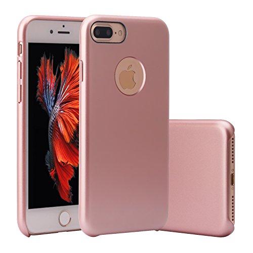Preisvergleich Produktbild iPhone 7 Plus Hülle,  ZXK CO Ultra Dünn PC Harte Schutzhülle Case für iPhone 7 Plus Stoßfeste Anti-Scratch Kunststoff Protective Cover-Rosa Gold