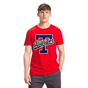Tommy Hilfiger T-Script Logo tee, Camiseta para Hombre