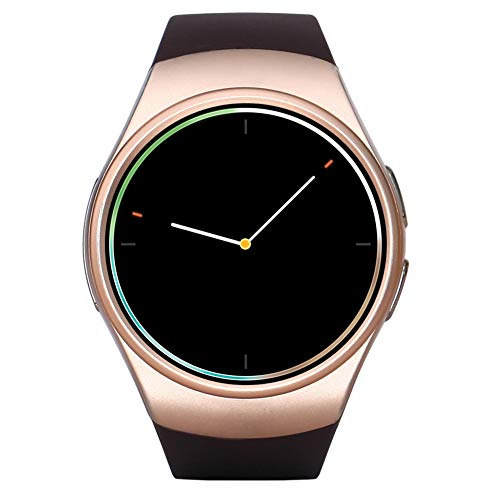 JINRU Runde, intelligente Armband-Armband-Fitness-Tracker-Uhr mit Pulsmesser, IP67 wasserdichtes Pedometer Anti-verlorene Musik-Wecker-Stoppuhr Stoppuhr Fitness-Armband,B