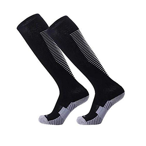 Über dem Kalb Fußball Socken Wingbind Feuchtigkeitstransport Team Athletic Baseball Boot Socken Softball Tubes Softball Sport Strumpf für Frauen und - über Männer-schwarz Für Kalb-socken Das