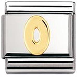 Nomination Composable Classic Zahlen Edelstahl und 18K-Gold (0) 030102