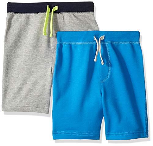 LOOK by crewcuts Jungen 2er-Pack Shorts, grau / blau, XXX-Large (16) -
