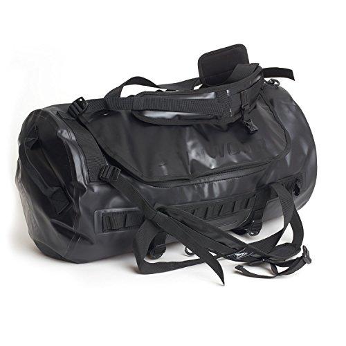 Steinwood Waterproof Duffle-Dry-Bag 50 L Multifunktions-Rucksack - Outdoor-Reisetasche - Weekender wasserdicht mit Rucksack-Funktion und Taschen für Zubehör (Schwarz) (Waterproof Rolling Duffel)