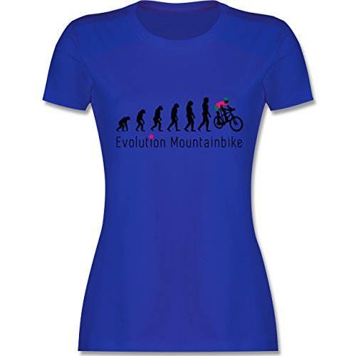 Evolution - Mountainbike Evolution - tailliertes Premium T-Shirt mit Rundhalsausschnitt für Damen Royalblau