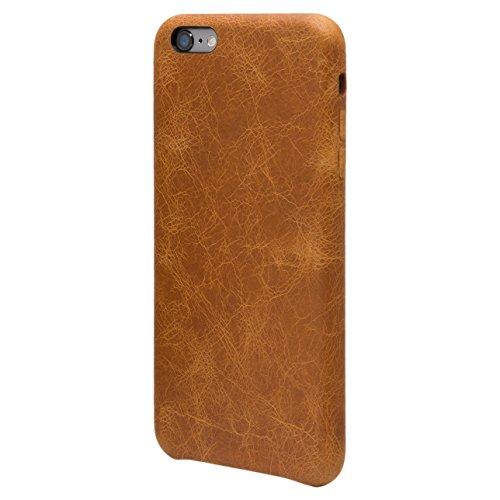 iPhone 6 Plus / 6S Plus Funda, FUTLEX Trasera Funda de auténtico cuero - Naranja - Ultra fino - Diseño y corte preciso - Hecho a mano