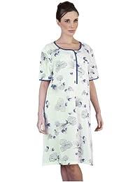 Lingerie de Nuit pour Femme/Vêtement de Nuit Jersey Fleuri Audacieux Pour Mesdames Chemise de Nuit à Manches Courtes, Diverses Couleurs & Tailles