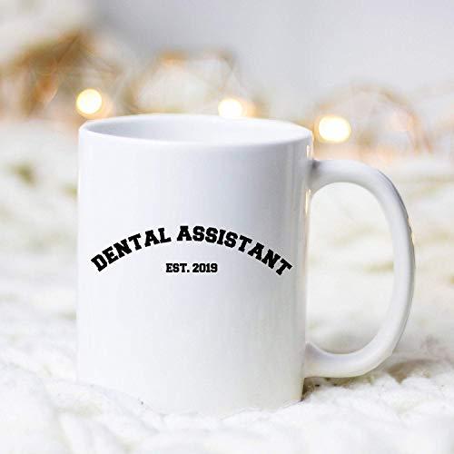 Custom Mug Job Establishment Dental Assistant Est 2019, Dental Assistant Mug, Dentist Assistant Gift, Custom Dental Assistant Mug ?? Coffee Mug 11oz
