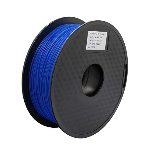 Wang-n-j-3d, zonestar shipping from russia filamento stampante 3d materiali di consumo in plastica pla 1,75 mm 28 colori 1kg / roll (colore : blue)