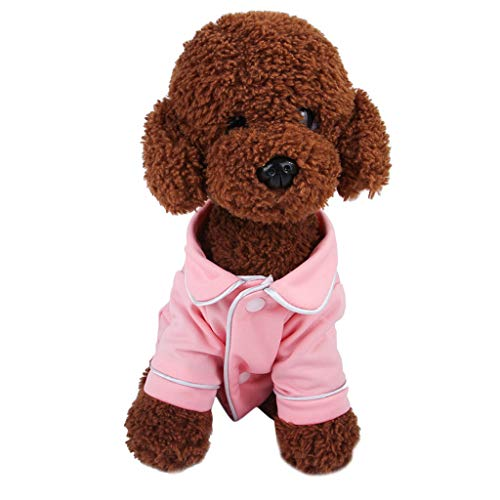 Haustiere Hund T-Shirt, friendGG Haustier Hundewelpen Nachtwäsche Pyjamas Kleidung Cute Sweet Kleidung Kleid Kostüm