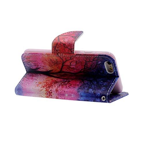 """Flip Libro Portafoglio Borsa Apple iPhone 6S Plus / 6 Plus 5.5"""" Custodia Protettiva ( Rosa ) Antiurto, PU Pelle Luce Case Cover, Bella Apparenza Originale design Modello Serie Stile per le Ragazze Rosa-"""
