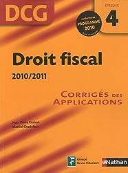 DROIT FISCAL 10/11 EPR 4 CORR
