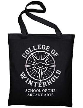 College of Winterhold Logo Jutebeutel, Beutel, Stoffbeutel, Baumwolltasche
