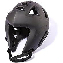Cascos, foxom Kickboxing protector de cabeza de boxeo Taekwondo Karate Judo artes marciales boxeo casco protector de cabeza de Gear, negro