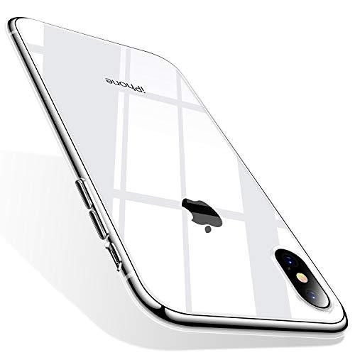 TORRAS iPhone X Hülle [Nur für iPhone X], Silikon Durchsichtig Ultra Dünn Schutzhülle Transparent Handyhülle [ Kratzfest ] Klar Soft Slim Gel Case TPU Clear Bumper Handy Hulle für iPhone X - Klar