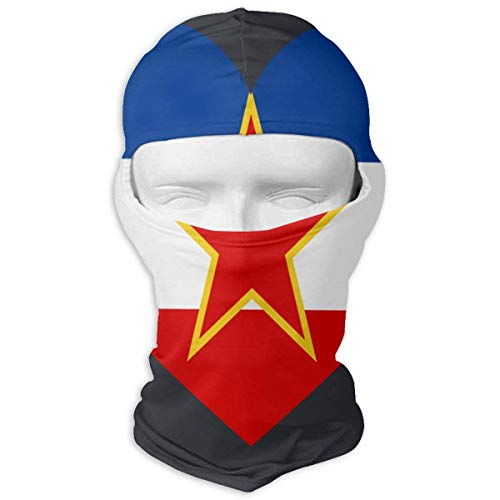 Xdevrbk Love Yugoslavia Flag Ski Mask Sun UV Protection Dust Protection Wind-Resistant Face Mask for Running Cycling Fishing Multicolor9
