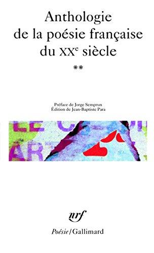 Anthologie de la poésie française du XXe siècle
