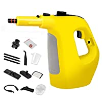 Steam Cleaner,Handheld Multifunctional High Temperature and Pressure Steam Big Capacity with 10-Piece Accessories for Stain Removal Sterilization of Home, Auto, Patio