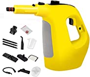 Steam Cleaner,Handheld Multifunctional High Temperature and Pressure Steam Big Capacity with 10-Piece Accessor