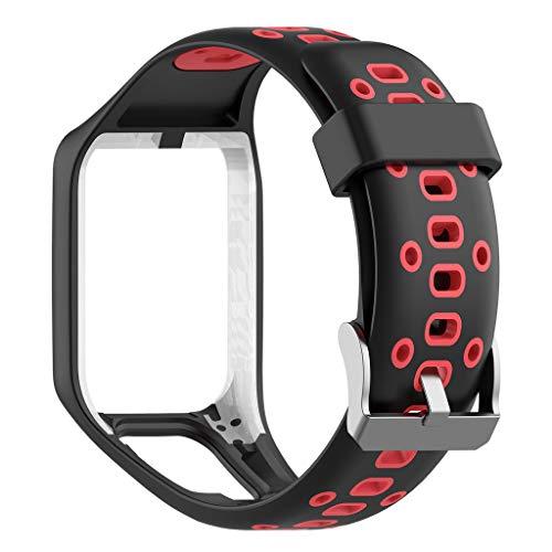 bloatboy Sport Ersatz Silikon Uhrenarmband Für TomTom 2/3 Series GPS Watch (schwarz) Serie Gps