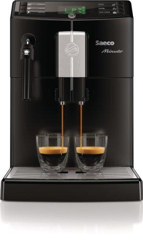 Saeco HD8761/01 Minuto Kaffeevollautomat, klassischer Milchaufschäumer, schwarz - 6
