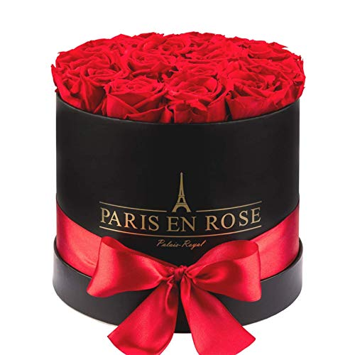 PARIS EN ROSE Palais-Royal Rosenbox schwarz-Rot S