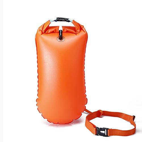 Explopur Aufblasbare Schwimmboje zur Rettung des Lebens - wasserdichte PVC-Sicherheits-Lufttrockenschwimmertasche Tow Float Swimming Aufblasbare Schwimmertasche - orange, gelb, rosarot -