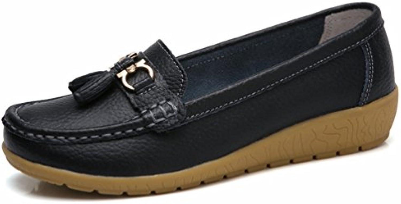 Qianliuk Frauen Casual Schuhe Frühling Herbst Schuhe Kuh Leder Wohnungen Frauen Slip auf Loafers Weiblichen Schuhen