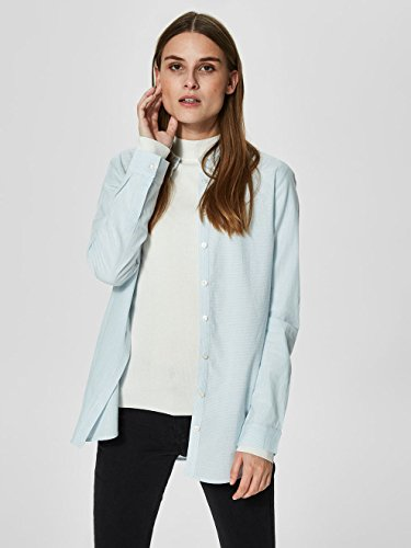 SELECTED FEMME Slfnoella LS Shirt Noos, Blouse Femme Multicolore (Skyway Stripes:snow White)