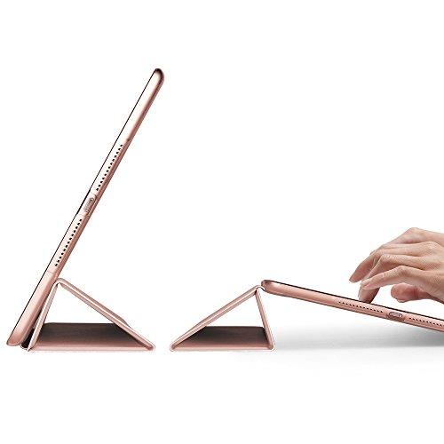Coque iPad 2018, Coque iPad 2017 Rose, ESR Nouvel iPad 2018 / 2017 9,7 pouces Smart Cover Case Housse Étui de Protection Rigide Utlra Fin avec Support...
