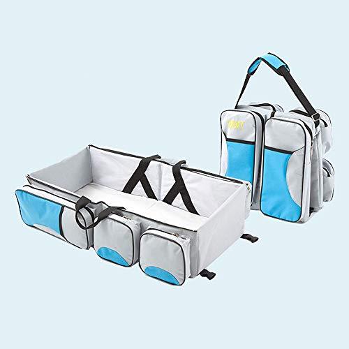 2 en 1 lit de voyage pliable de berceau portatif pour des fonctions de bébé, lit de bébé pliable, fonctions de berceau de voyage comme sac à couches
