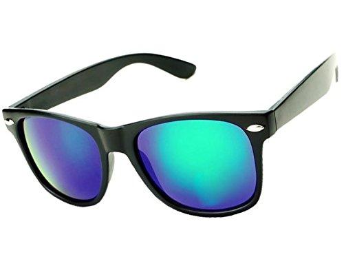 UNISEX (Damen Herren) Retro Vintage polarisierten polarized grün Sonnenbrille Brille SUNGLASSES UV400 Protection Morefaz(TM) (Mirror Blue Green polarized)