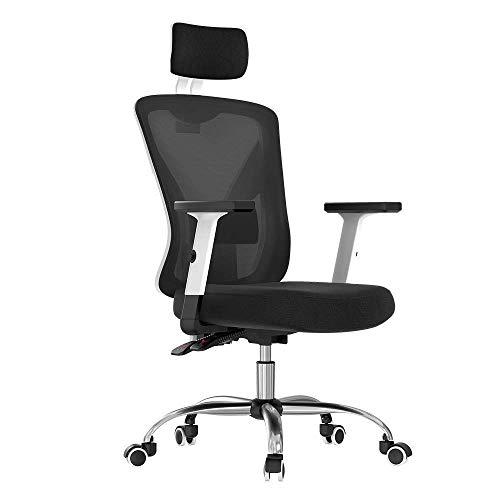 DWLXSH Chaise de Bureau en Cuir de Levage à Quatre Voies Ajustable Coussin Lombaire - Opération Bouton Facile à Utiliser Réduire Le fardeau de la Taille
