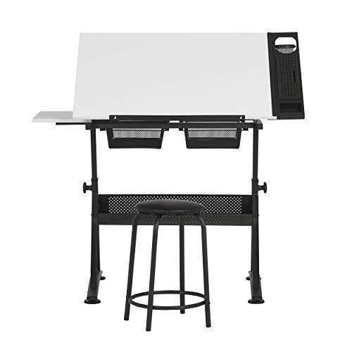 Gepolsterte Fusion (Studio Designs Fusion Craft Station, Metall, anthrazit schwarz/weiß, 122 x 61 x 90 cm)