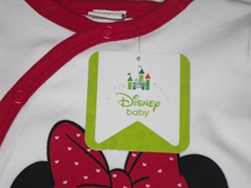 Image of Baby Girls Sleepsuits Baby Grow Pyjamas Disney Minnie Mouse T/b Upto 24 Months (3 months, white with feet)