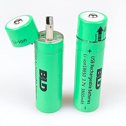 2PCS Li-ion Rechargeable 18650 Battery 3.7V USB Self-Charging Rechargeable Batterie With LED Indicator For Flashlight