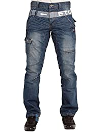 MENS NEW EM444 STRAIGHT LEG BLUE JEANS LATEST FUNKY DESIGN 28 TO 38 RRP £44.99