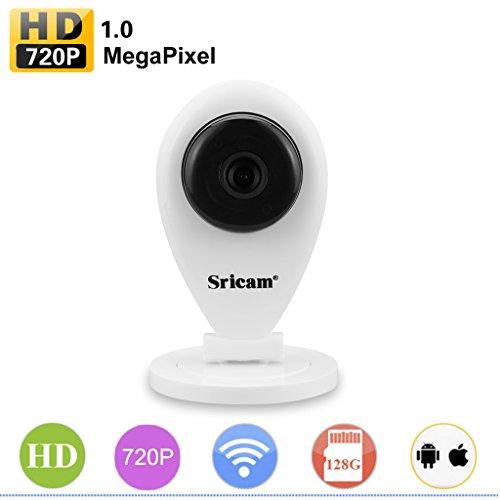 Usb-720p-kamera (Sricam SP009 720P WIFI IP Kamera Überwachungskamera H.264 P2P IP Cam 2 Wege Audio Baby Monitor 3,6mm IR Nachtsicht Sicherheitskamera Bewegungsalarm Email Alarm)