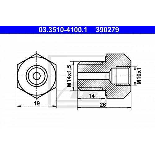 sourcing map 6mm ID Schlauchkupplung 12mm Hohlschraube Bremsleitung Adapter f/ür Motorrad Auto