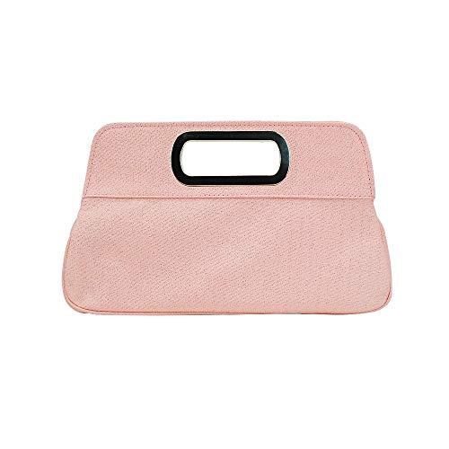 START Rosa und schwarzer europäischer und amerikanischer Art Goldener Silk Glitter Normallack-Handtaschendamen-Bankettbeutel Größe: 25 * 5.5 * 18.5cm (Farbe : Pink) (Glitter Schwarz Geldbörse)